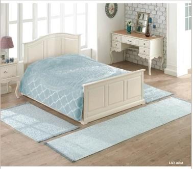 Soley 3'Lü Yatak Odası Halı Seti Lily Yeşil
